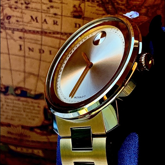 Movado Other - Movado Bold Champagne Dial Gold Plated Men's Watch